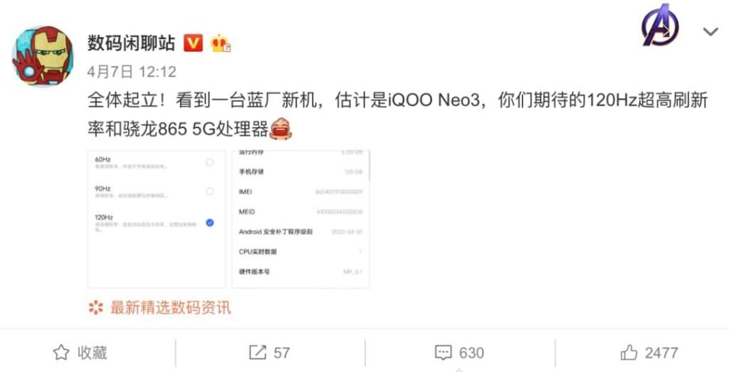 iQOO neo3 5g