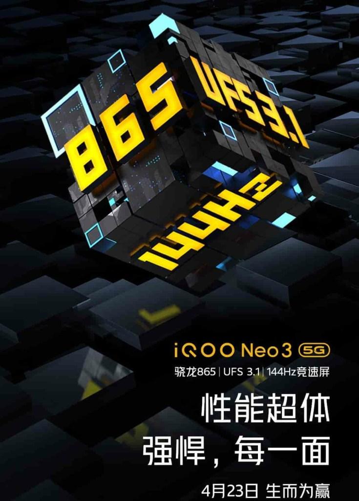 iQOO NEO3 144Hz refresh rate display