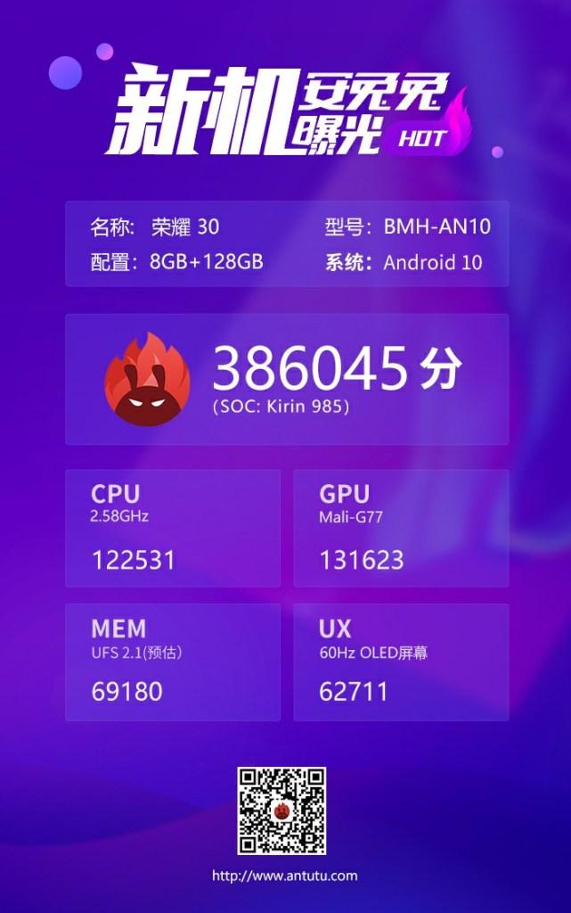 Huawei Kirin 985 Antutu Benchmark