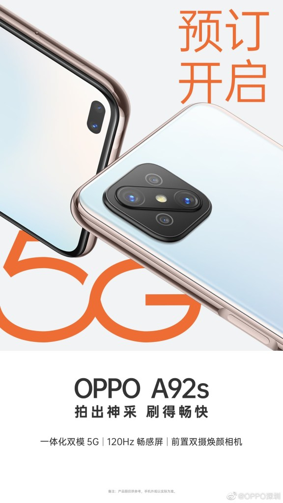 Oppo A92s Marketing Material
