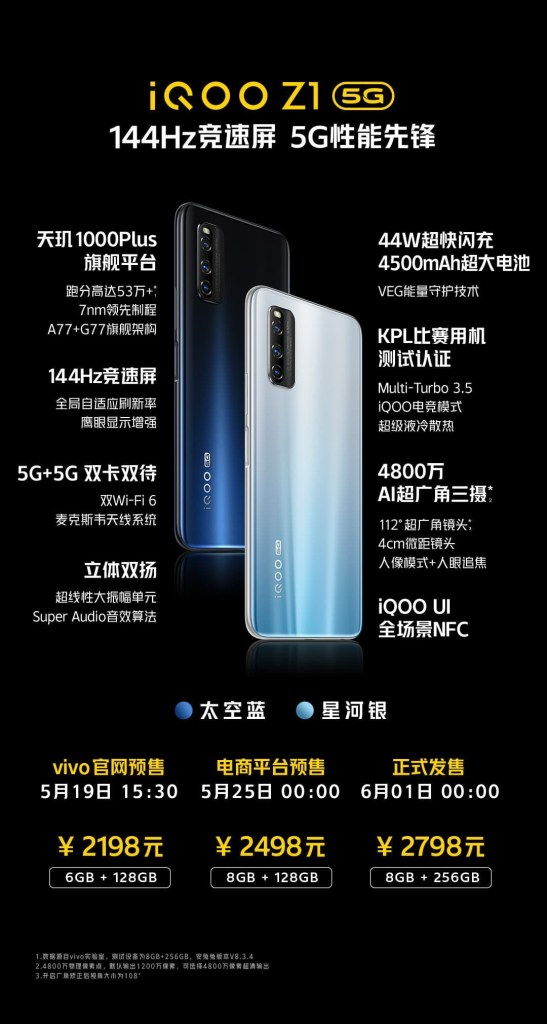 iQOO Z1 Price and Specifications