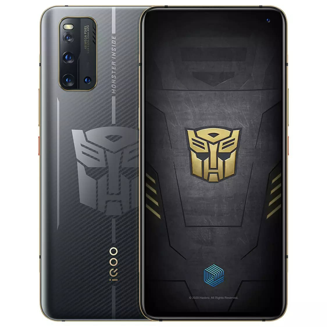 iQOO 3 Transformers Edition official rendering