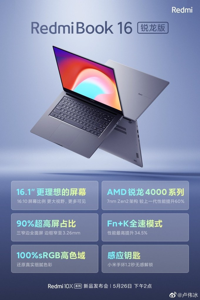 Highlights of the RedmiBook 16 Ryzen Edition at a glance