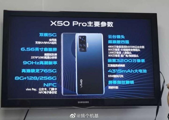 Vivo X50 Pro Full Specifications