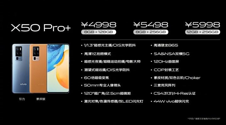 Vivo X50 Pro+ Price