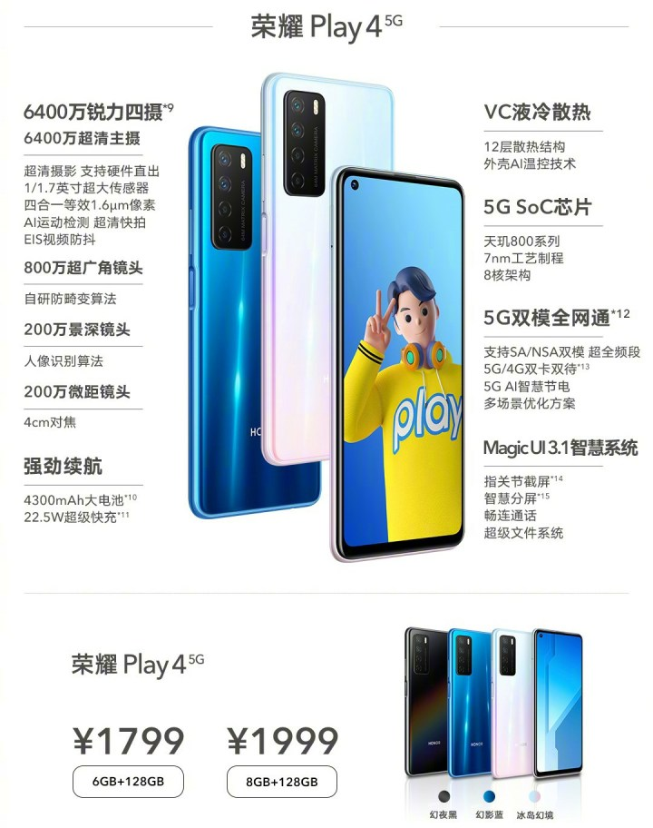 Honor Play4 Price and Specifications