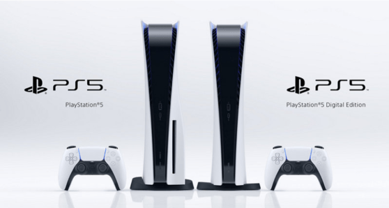 PlayStation 5 Standard and digital edition side-by-side