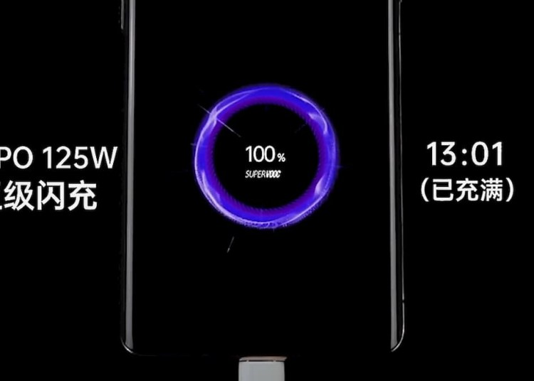 Oppo 125W Can Fill 4000mAh in 13 Minutes