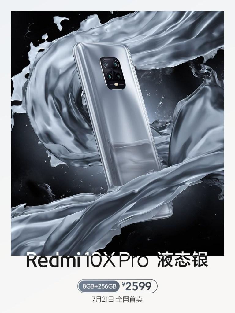 Redmi 10X Pro Bright Silver color