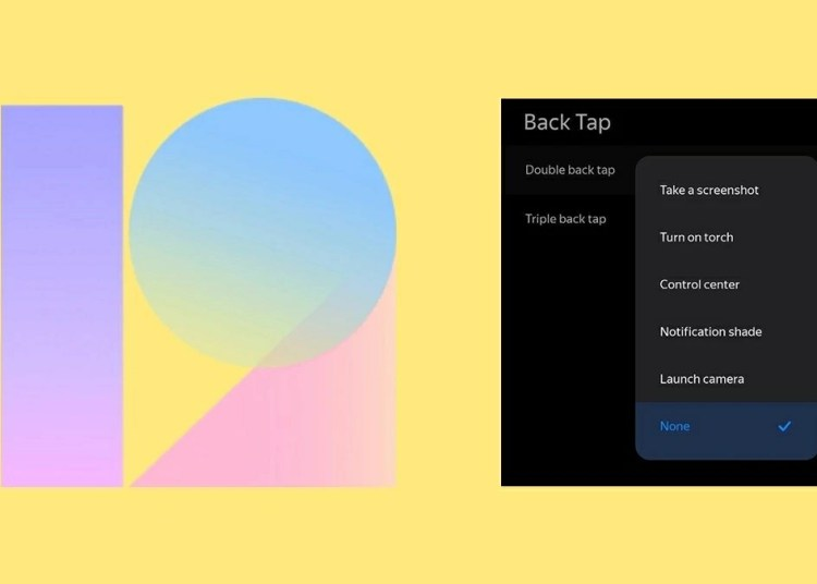 MIUI 12 New Feature Tap Back for Specific Function