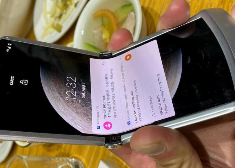 Motorola RAZR 5G live photos