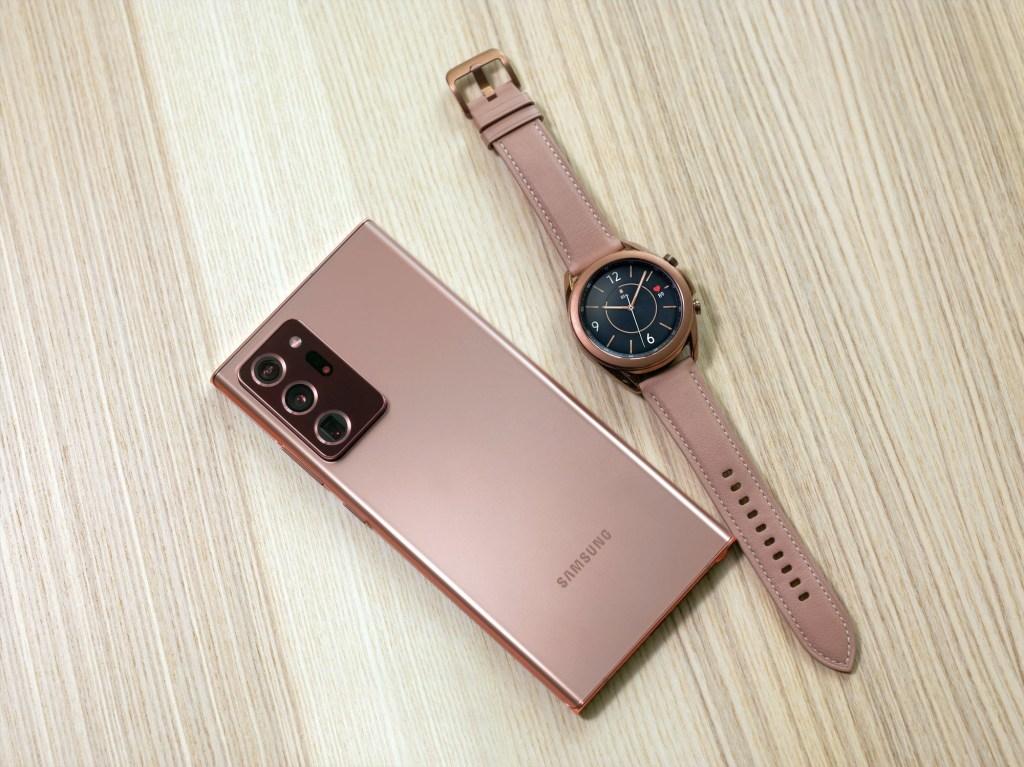 Samsung Galaxy Note 20 Ultra with galaxy Watch 3