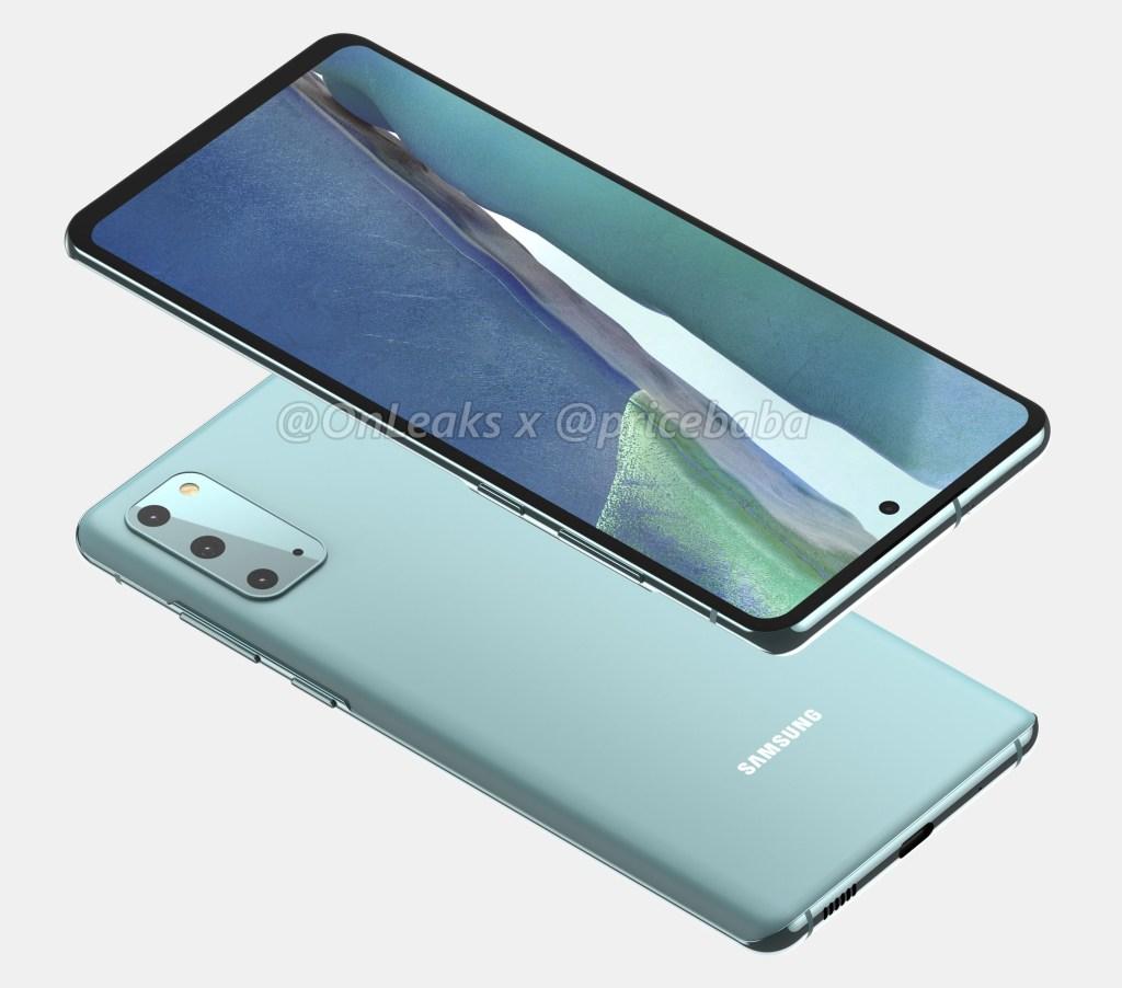 Samsung Galaxy S20 FE Renderings