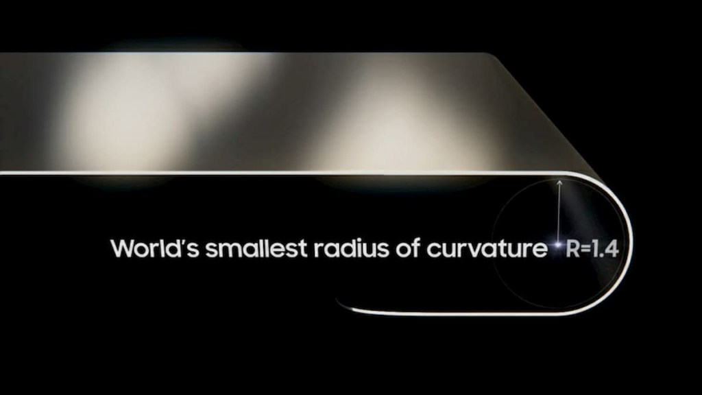 Samsung Display smallest 1.4R foldable OLED