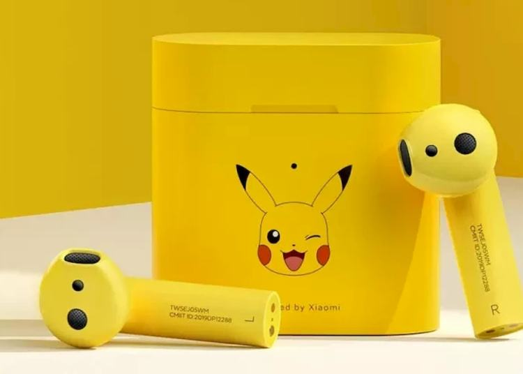 Picture showing Xiaomi Mi Air 2s Pikachu Edition appearance in yellow themed color