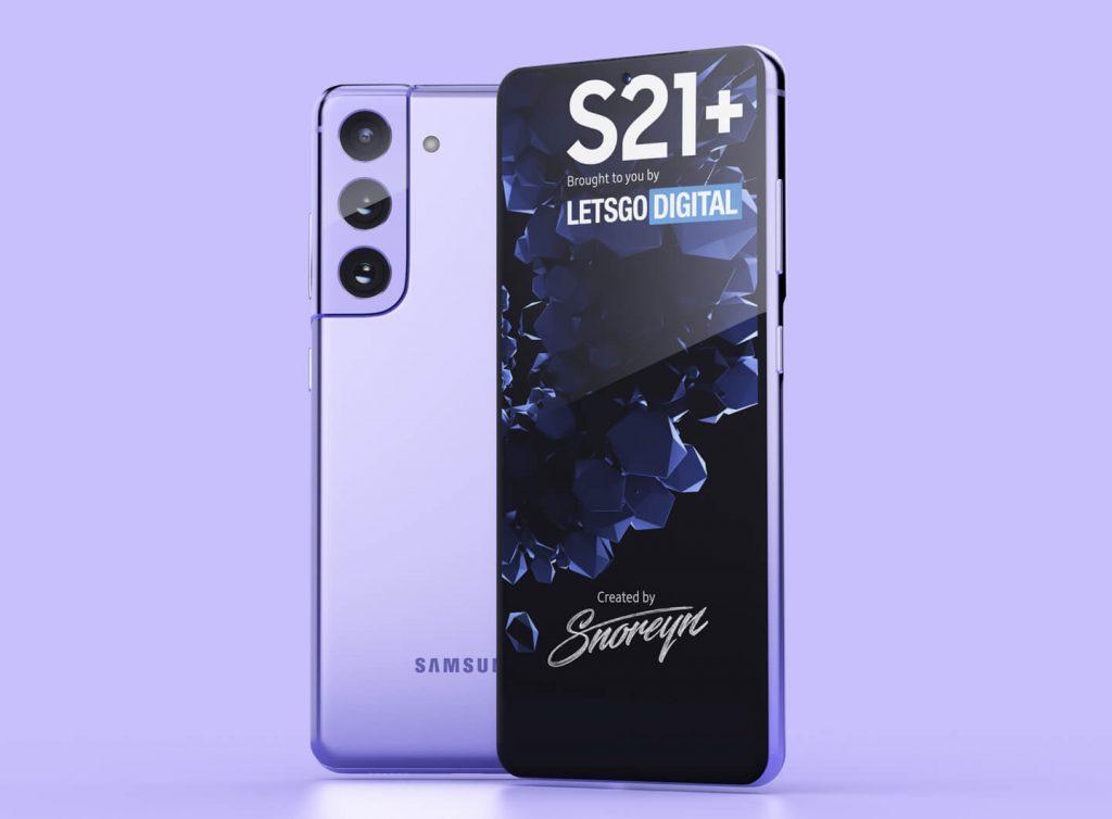 Samsung Galaxy S21+ Renderings