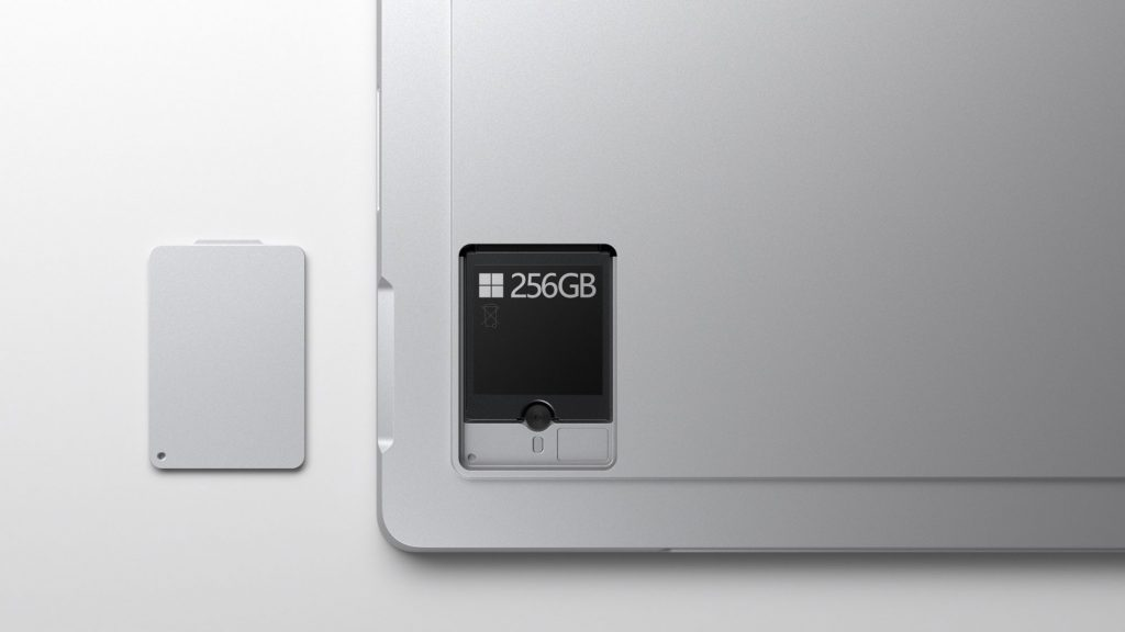 Microsoft Surface Pro 7 Plus removable SSD
