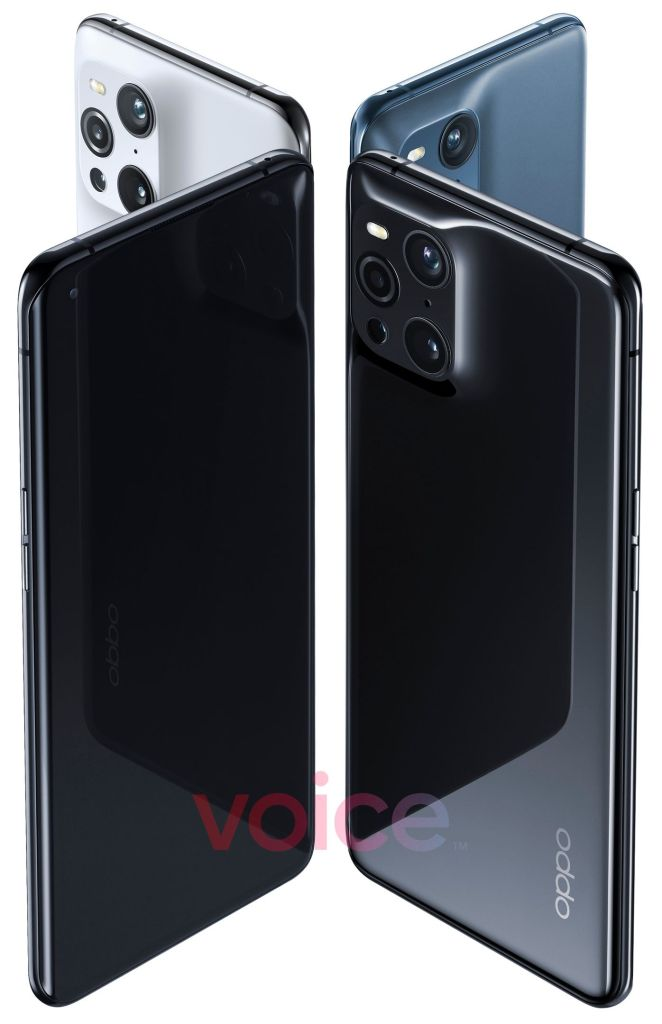Oppo Find X3 official renderings