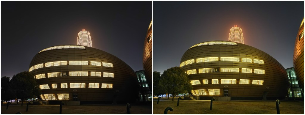iQOO 7 camera night mode 'OFF' and 'ON' state sample comparison.