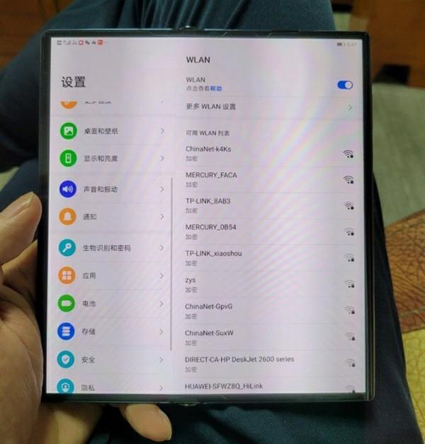Huawei Mate X2 real life photo
