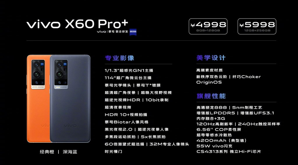 Vivo X60 Pro+ price and specifications