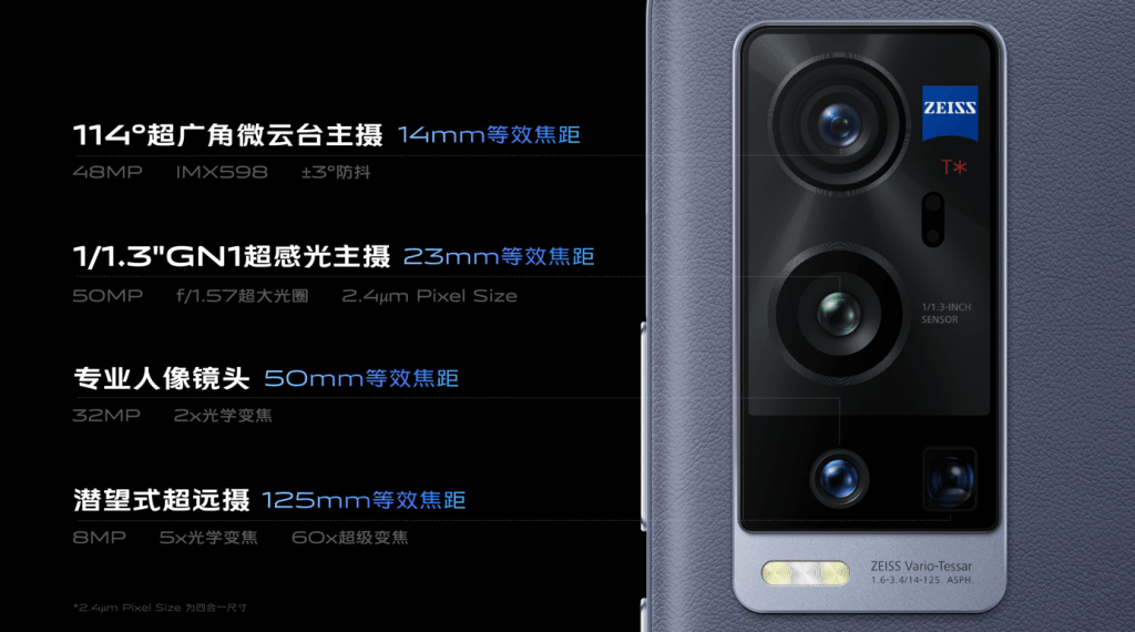 Vivo X60 Pro+ Camera Specifications
