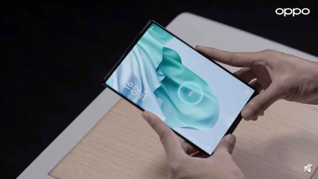 Oppo Air Charging Technology Demonstrated on Oppo X 2021 Rollable