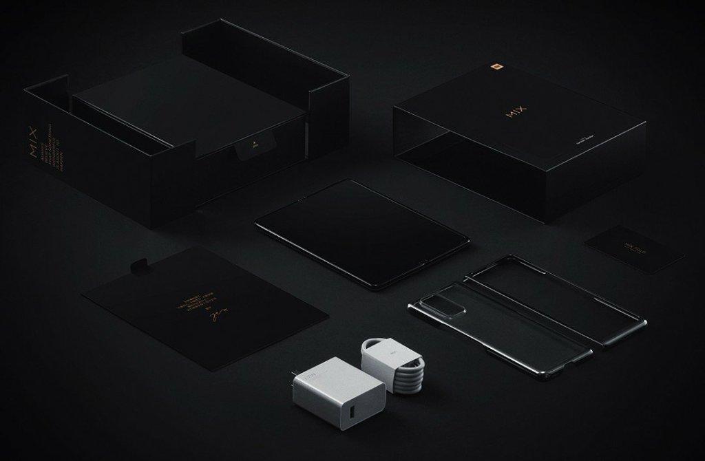 Mi Mix Fold in box accessories