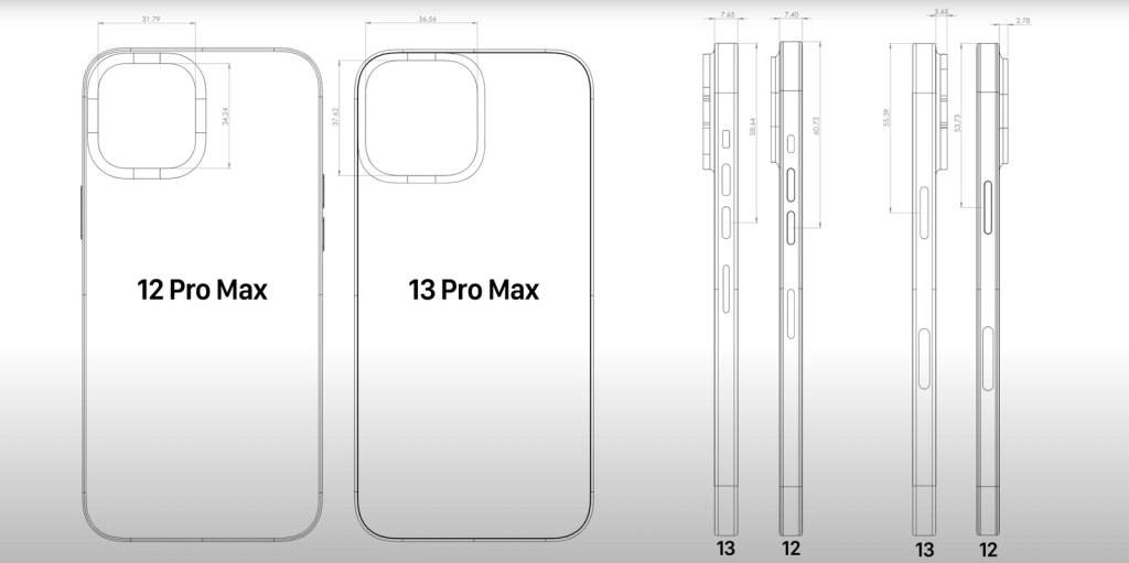 iPhone 13 Pro Max Compared with 12 Pro Max