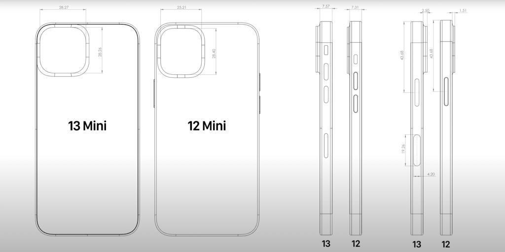 iPhone 13 Mini compared with 12 Mini