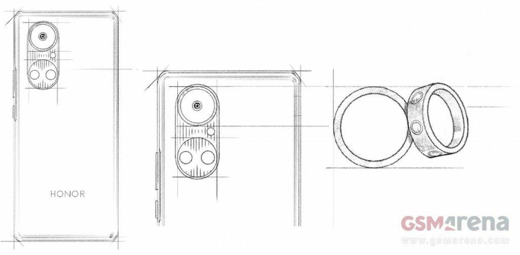 Honor 50 Design drawing