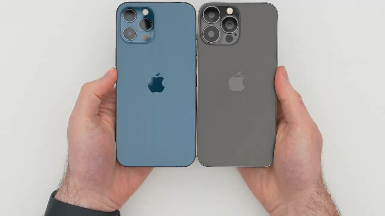Apple iPhone 13 Pro Max Mock-up Comparison with 12 Pro Max