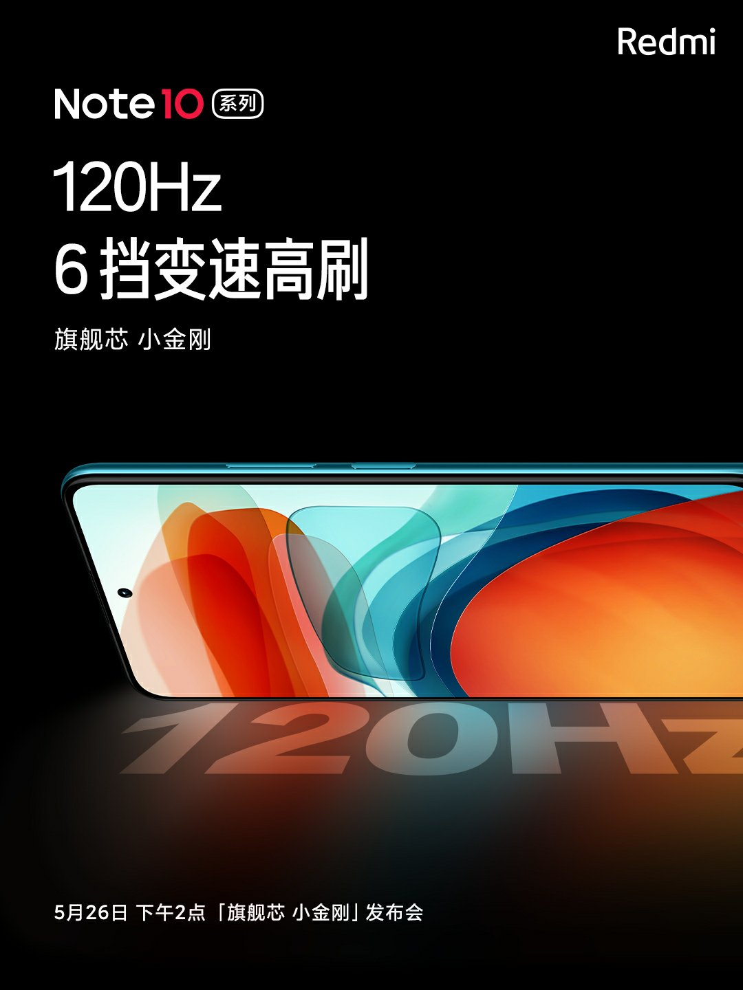 Redmi Note10 Series Display Features 120Hz Refresh rate