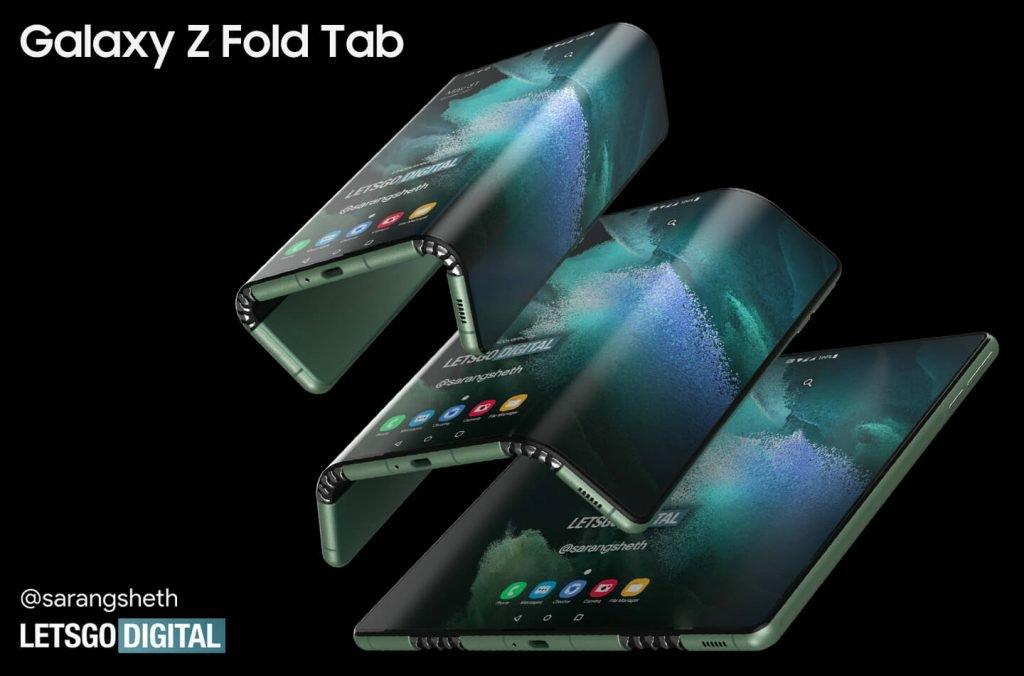 Samsung Galaxy Z Fold Tab Rendering