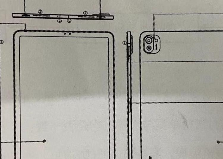 Xiaomi Tablet 5 Design Drawing