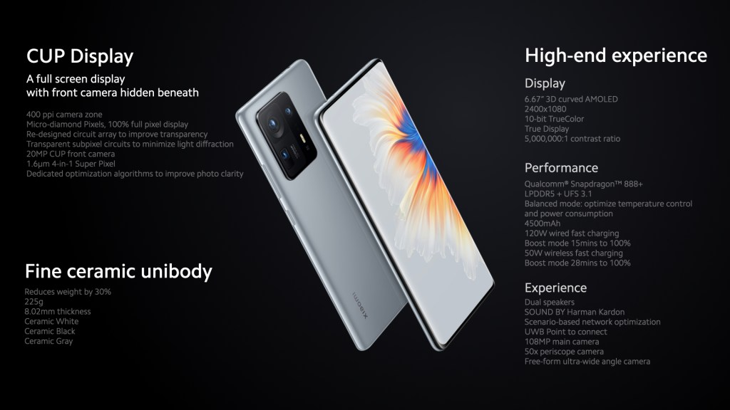 Xiaomi Mix 4 Specifications