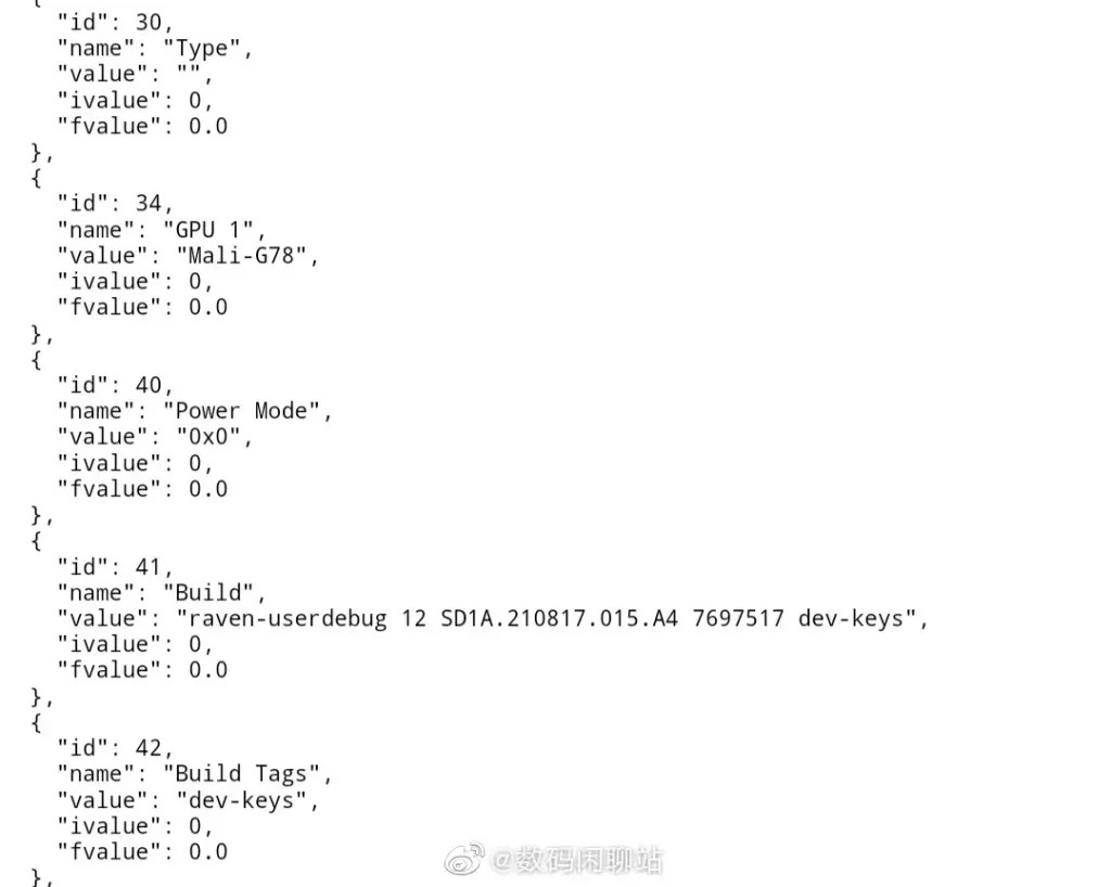Google Tensor Chip Specifications