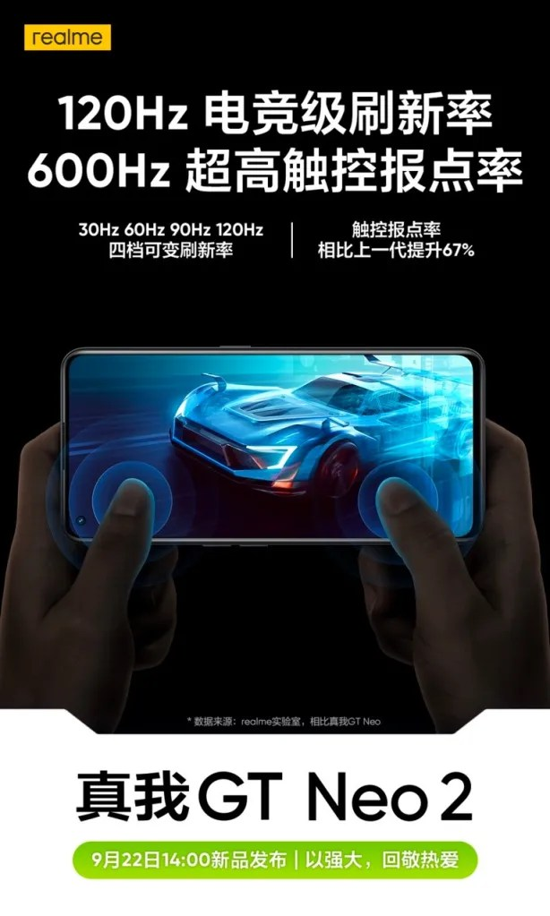 Realme GT Neo2 Display Specifications