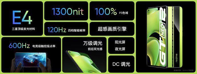 Realme GT Neo2 display