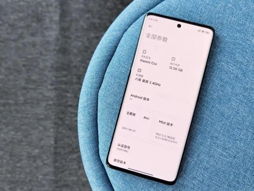 Xiaomi CIVI Real-life Photos
