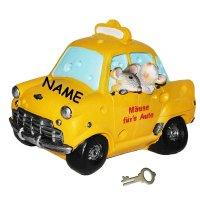 Spardose Auto mit Mäusen
