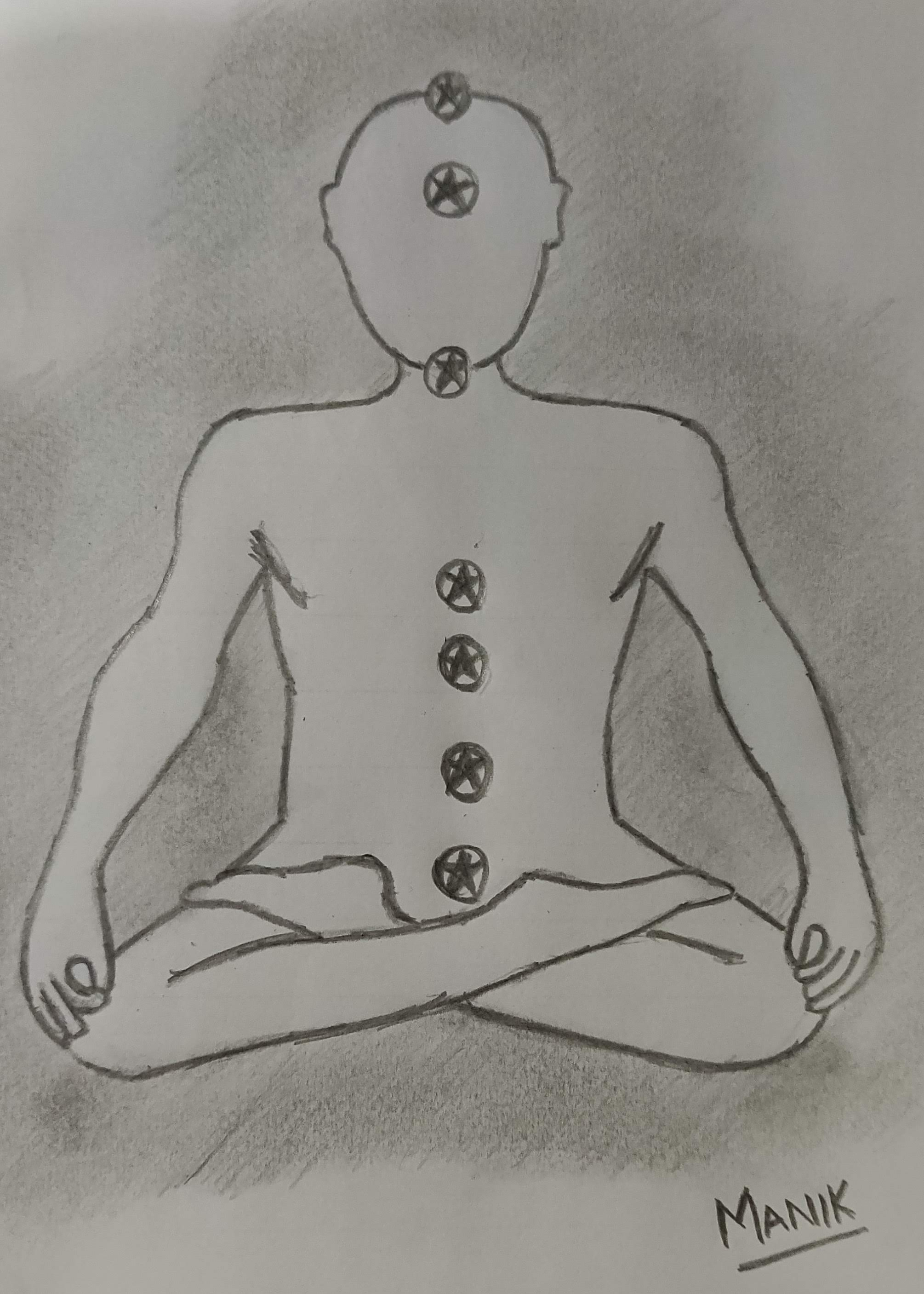 Benefits of Yoga explained in a pencil sketch