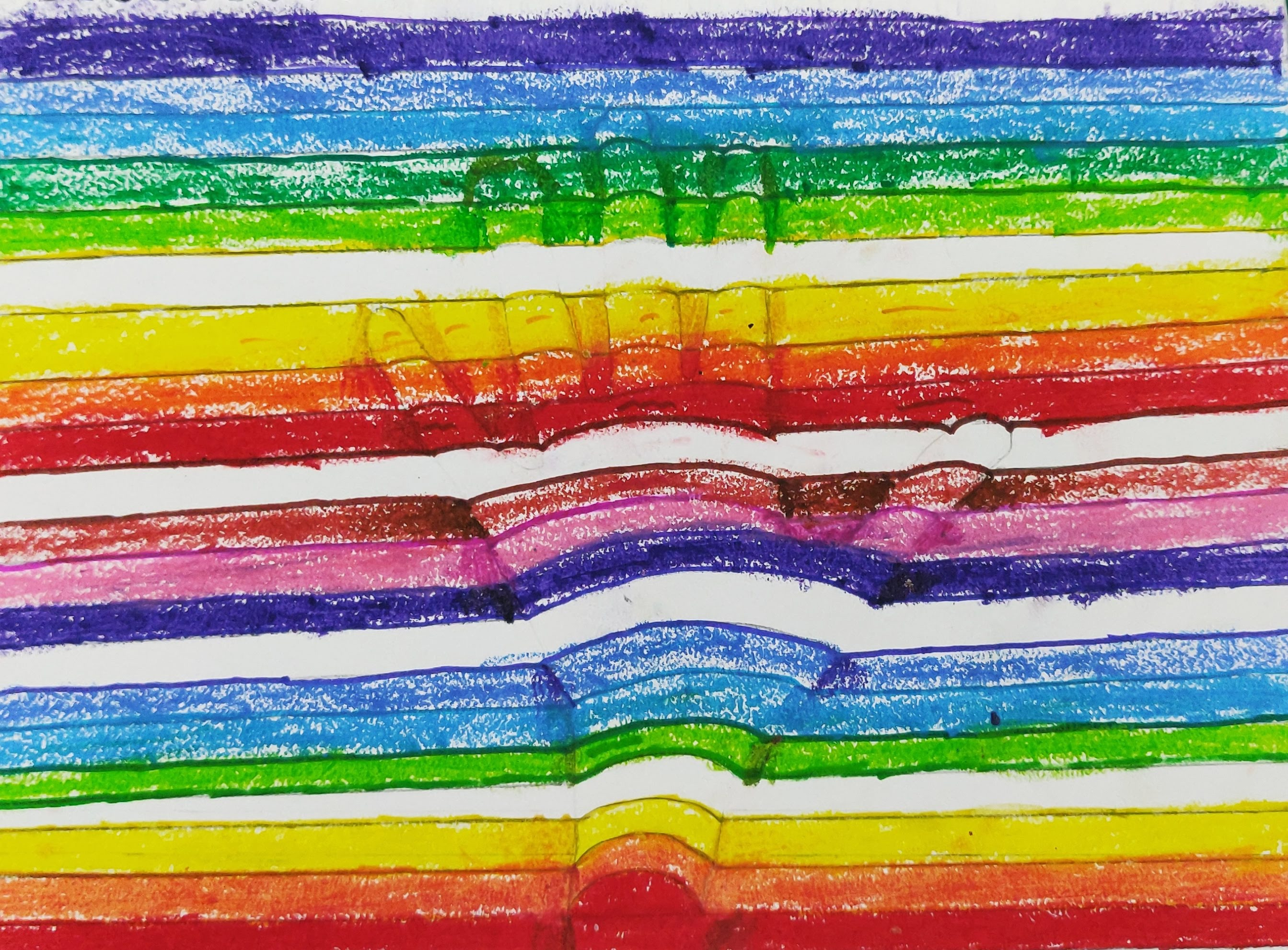 How to create a 3D Illusion with Oil Pastels