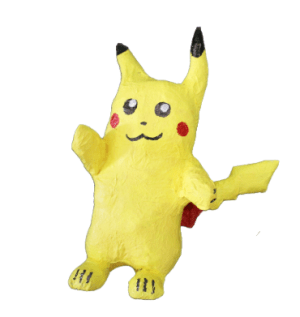 Hand made Pikachu made with Newspaper