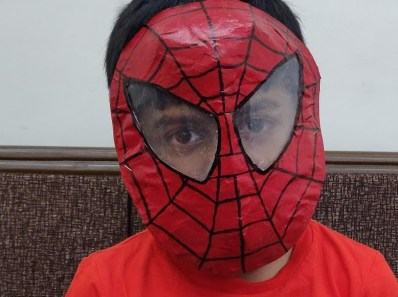 Spider Man Paper Mask DIY