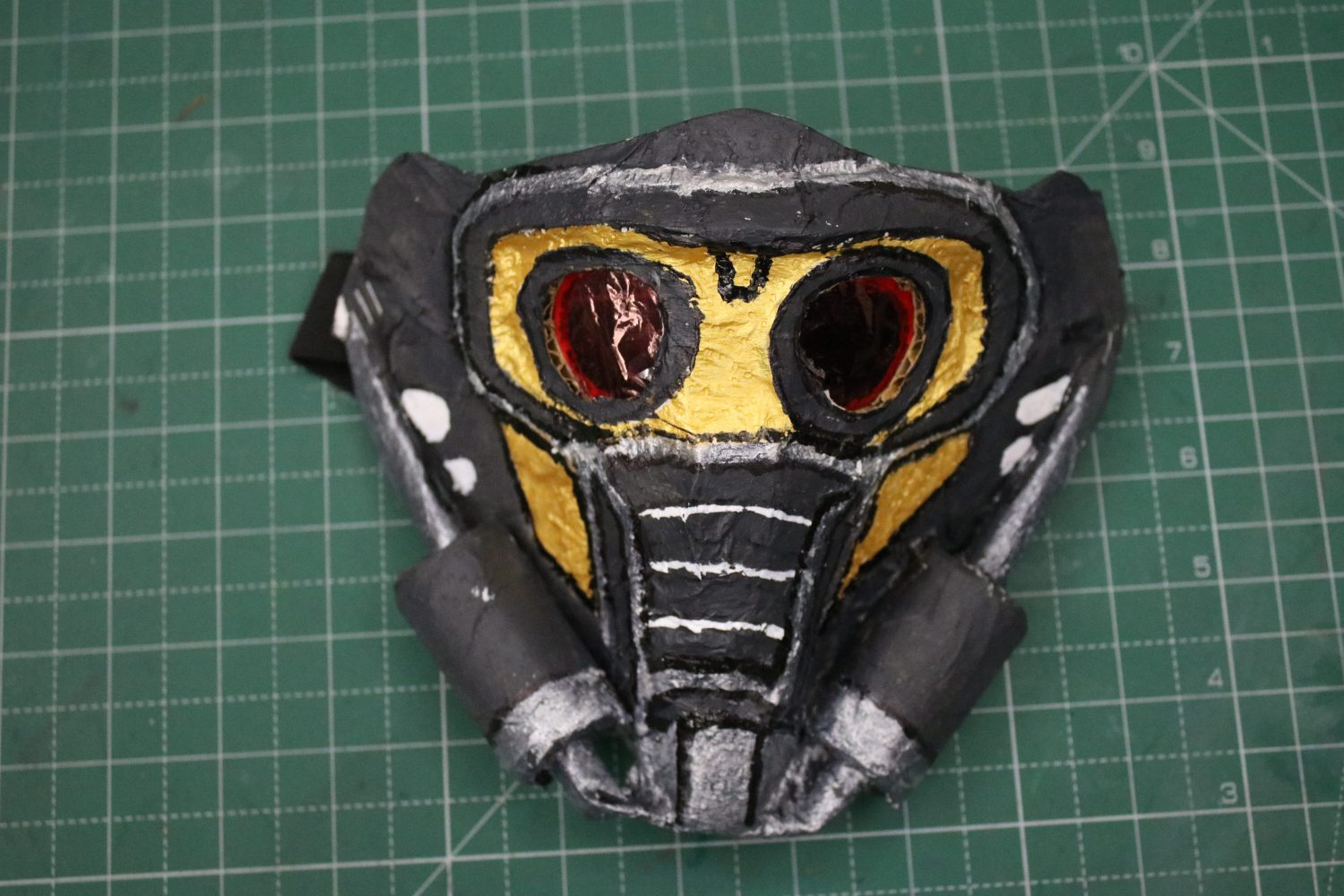 Star Lord Mask made with Cardboard and Paper