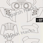 Simple template for Star lord mask from Avengers and Guardians of Galaxy