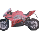 Red Paper Motorcycle Template