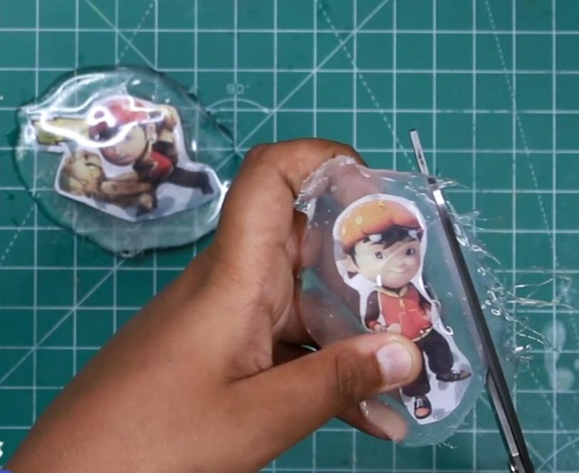 Cutting BoBoiBoy Fridge Magnets