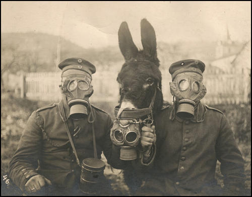 Image result for photos of gas attacks during WWI